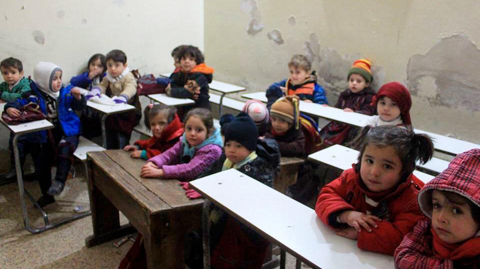 HHC | Schule in Syrien. Die Schulen gehen von der 1. bis zur 6. Klasse.