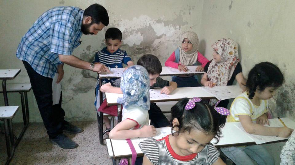 HHC | Schule in Syrien. In den Schulen arbeiten 24 Frauen und 6 Männer.