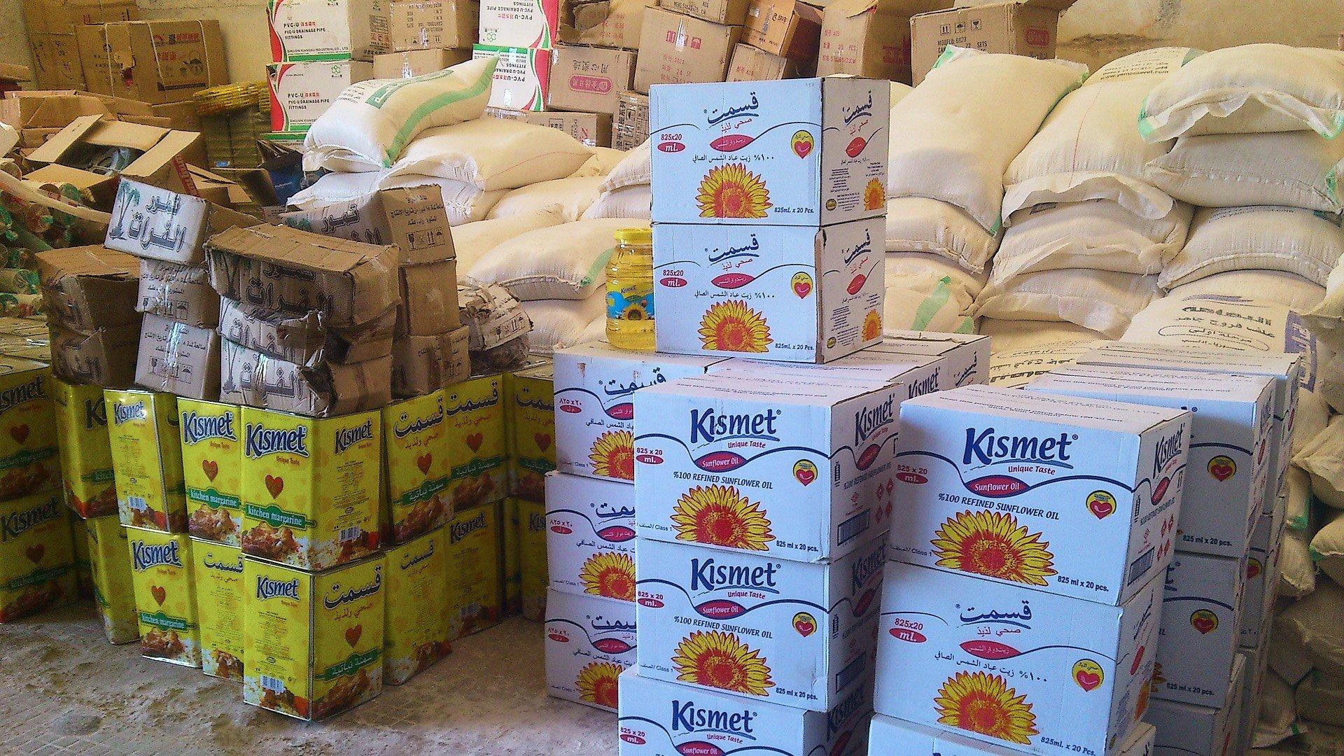 Großeinkauf für Nahrungskoerbe in Syrien Foto HHC